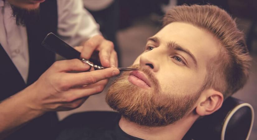 Стрижка бороды в мужской парикмахерской
